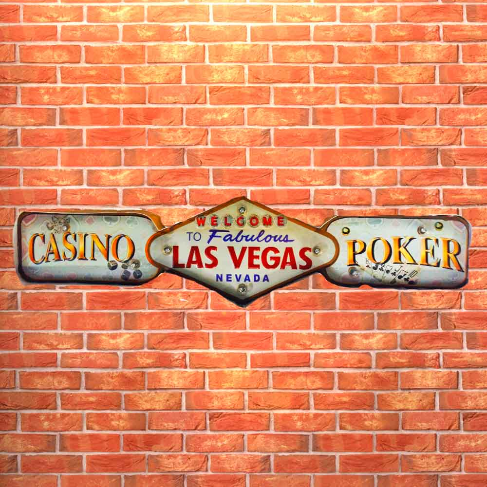 Placa-Led-Retro-Las-Vegas-Casino-Pocker-------------------------------------------------------------
