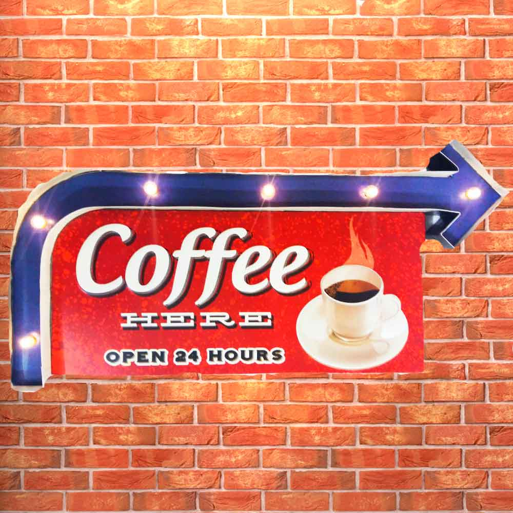 Placa-Led-Retro-Coffee-Here-------------------------------------------------------------------------