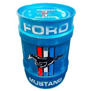 Tambor-Decorativo-Pequeno-Ford-Mustang-Azul-Azul---Unica