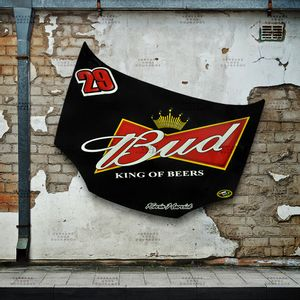 Capo-Kevin-Harvick-for-NASCAR-Budweiser-black-car---------------------------------------------------