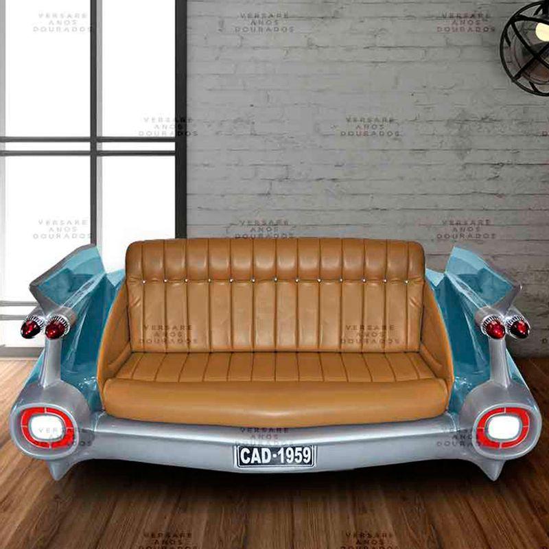 Sofa-Cadillac-License-To-Drive-Azul---Estofado-Caramelo