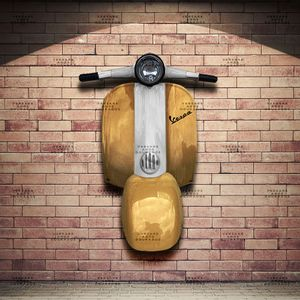 Frente-Vespa-Gold-Edition-Dourado---Caixa-Traseira-Creme