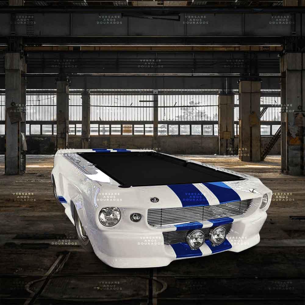 Mesa-De-Bilhar-Mustang-Charlie-s-Angels-Branco---Tecido-Preto