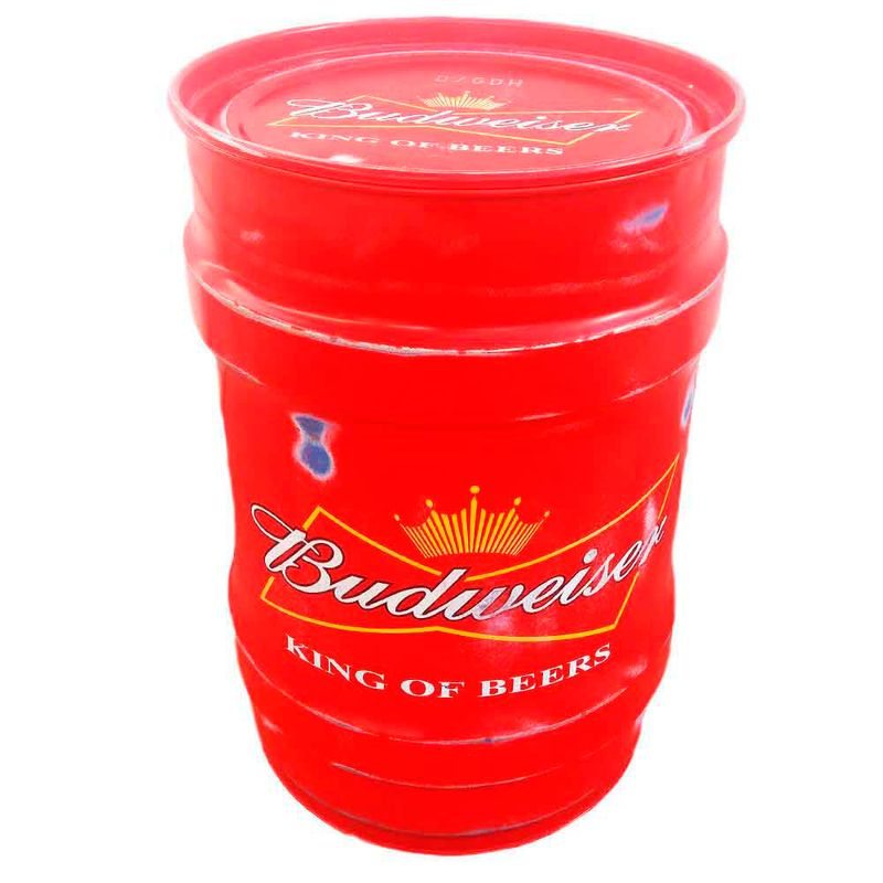 Tambor-Decorativo-Pequeno-Budweiser-Vermelho