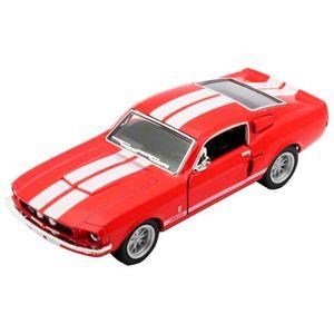 Miniatura-1967-Shelby-Gt-500-Escala-1-38-Vermelho-E-Branco