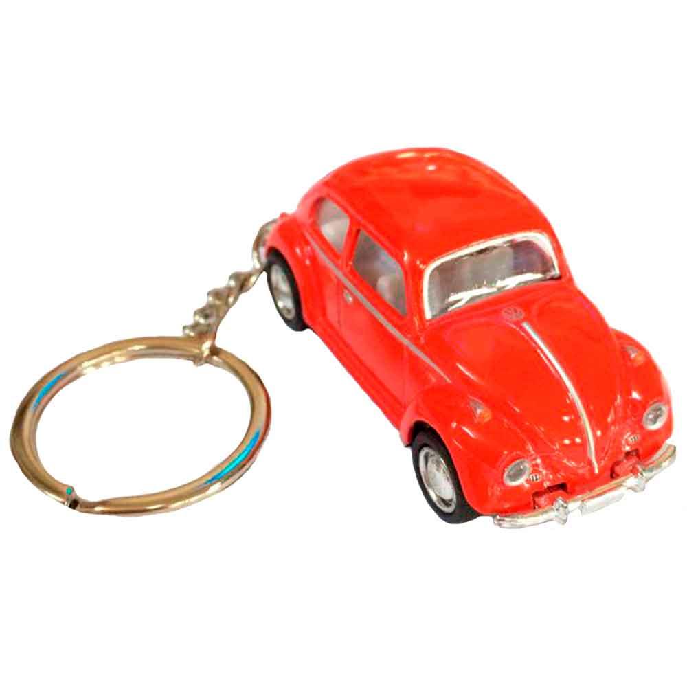 Chaveiro-Miniatura-1967-Volkswagen-Fusca-Escala-1-64-Rosa