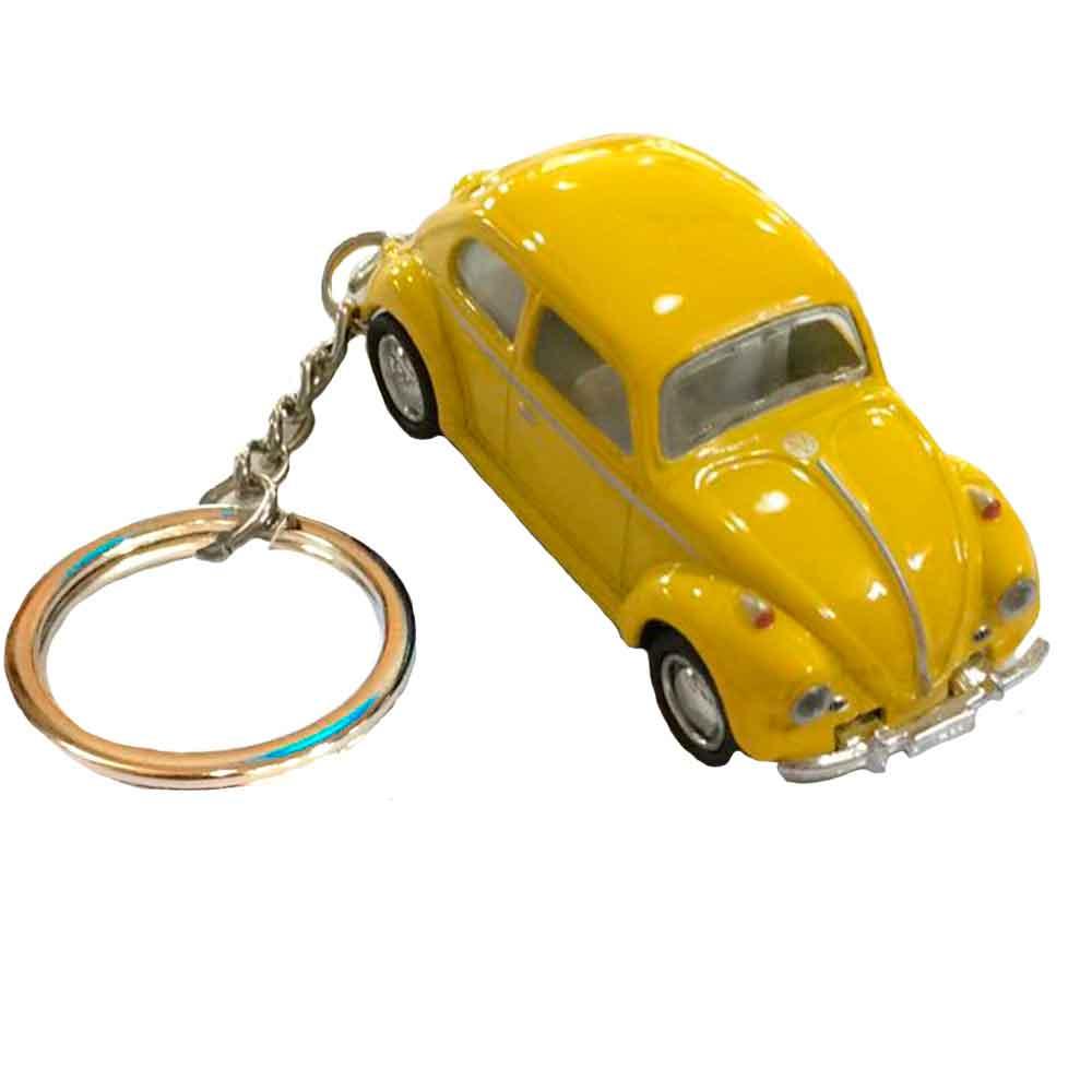 Chaveiro-Miniatura-1967-Volkswagen-Fusca-Escala-1-64-Amarelo