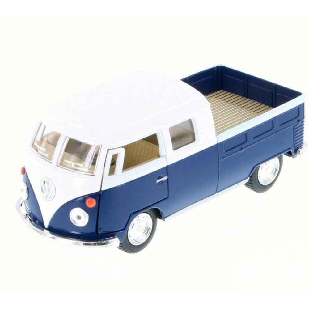 Miniatura-1963-Volkswagen-Kombi-Pickup-Cabine-Dupla-Escala-1-34-Saia-E-Blusa-Azul