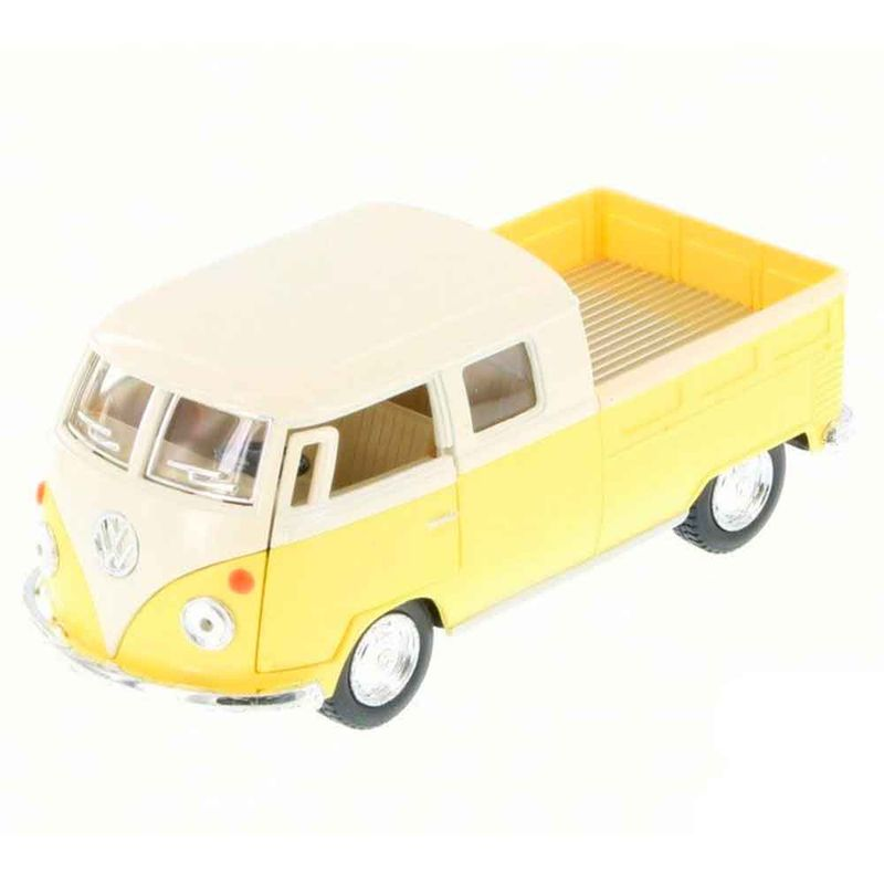 miniatura-1963-volkswagen-kombi-pickup-cabine-dupla-amarelo-pastel-cod-542101