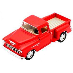 Miniatura-1955-Chevy-Stepside-Pick-up-Escala-1-32-Vermelho