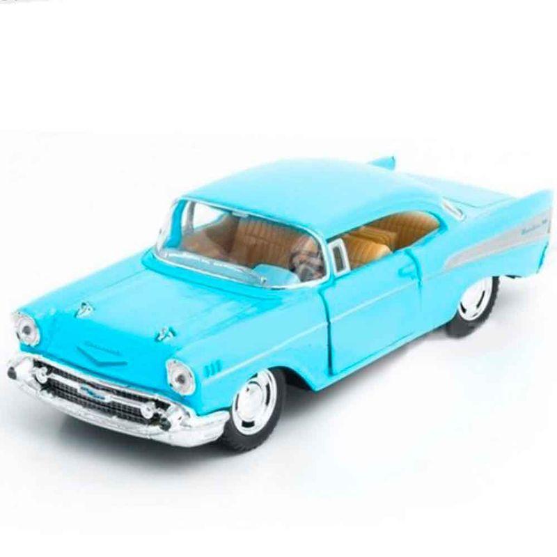 Miniatura-1957-Chevrolet-Bel-Air-Escala-1-40-Azul-Pastel
