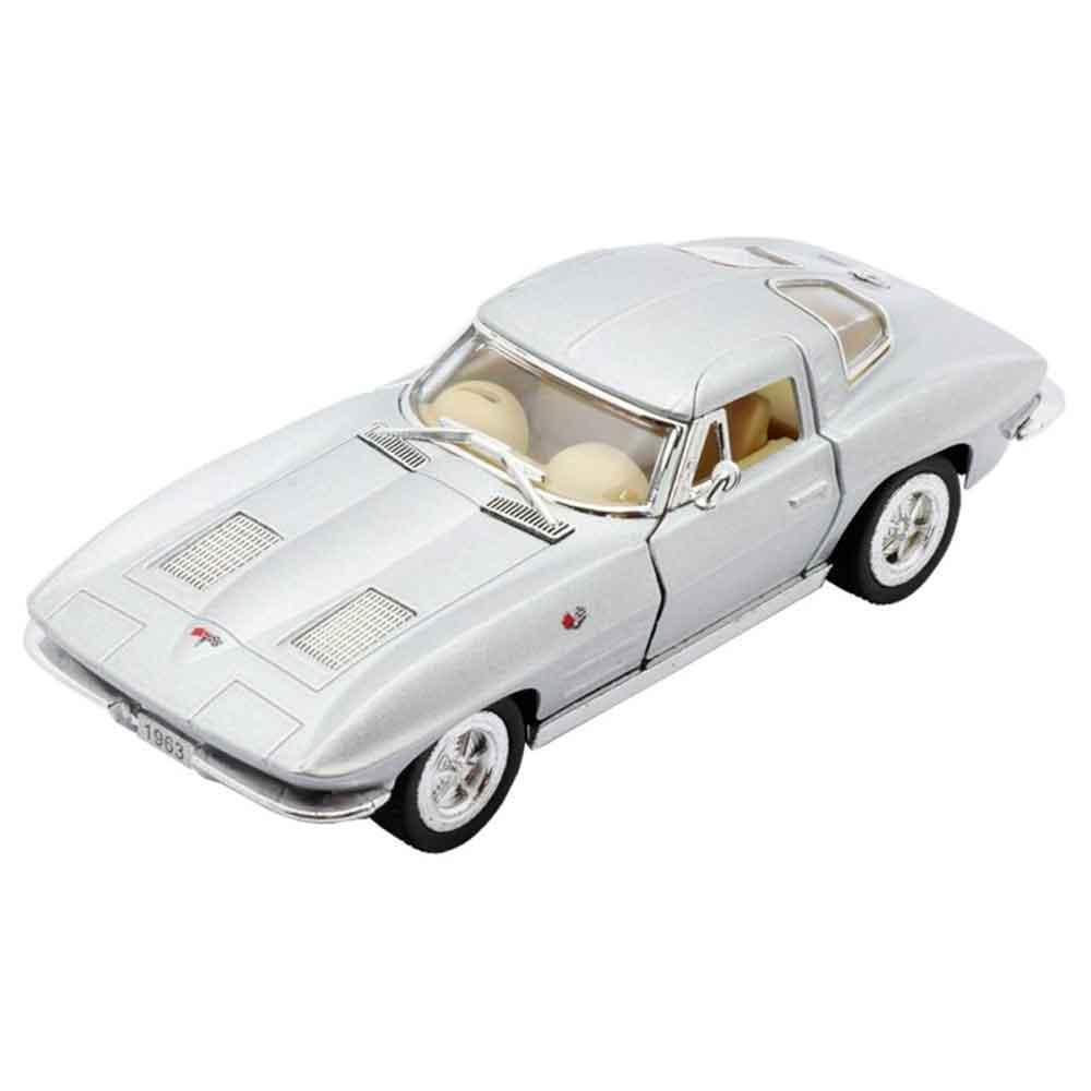Miniatura-1963-Corvette-Sting-Ray-Escala-1-36-Prata