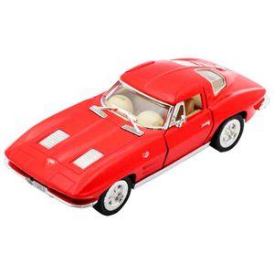 Miniatura-1963-Corvette-Sting-Ray-Escala-1-36-Vermelho