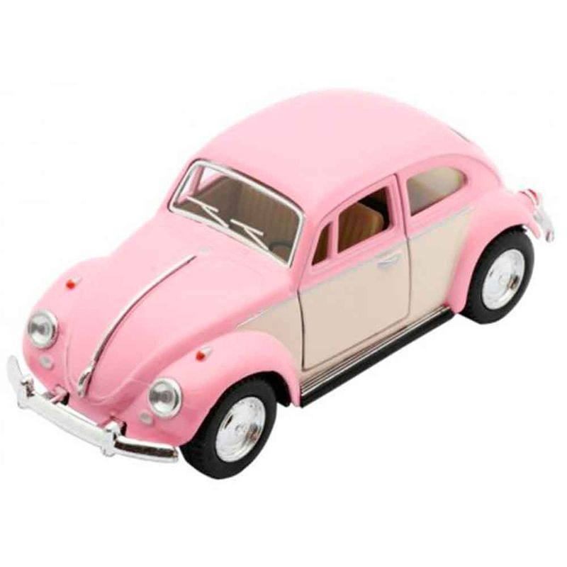 Miniatura-1967-Volkswagen-Fusca-Escala-1-32-Rosa-Pastel