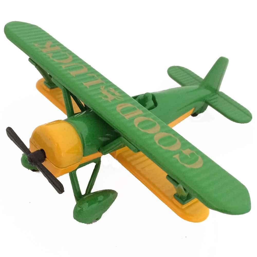 Apontador-Retro-Miniatura-Aviao-Good-Lucky-Verde