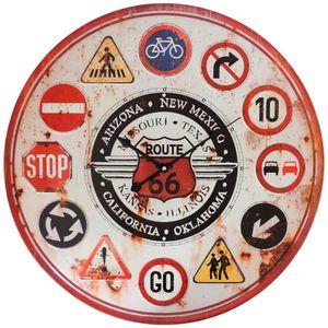 relogio-de-parede-route-66-placas-vintage