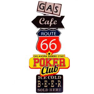 Placa-Decorativa-Gigante-Mdf-Route-66-Gas