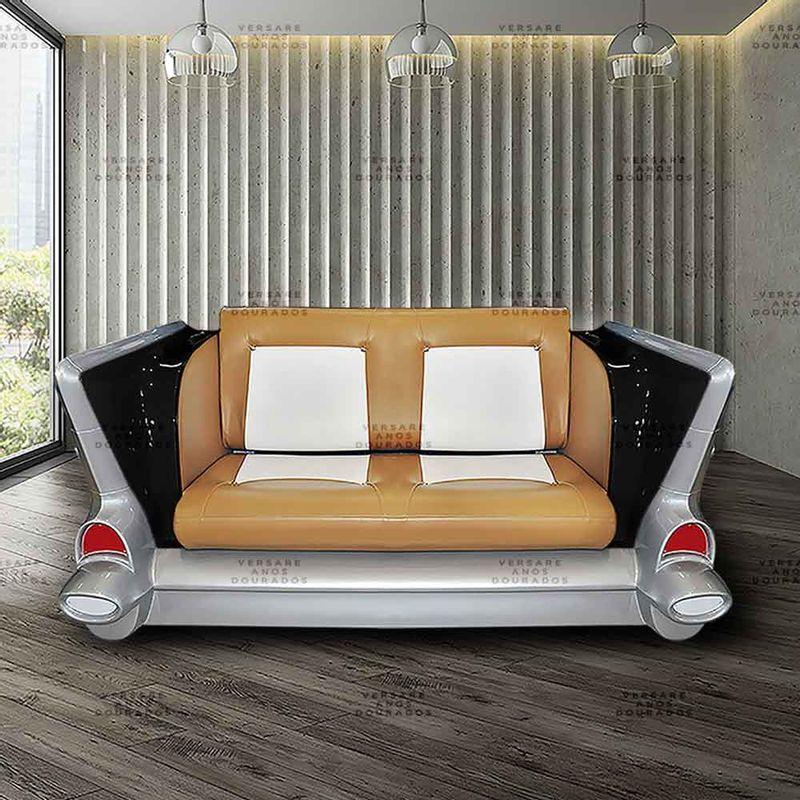 Sofa-Bel-Air-James-Bond-Preto---Estofado-Caramelo-E-Branco