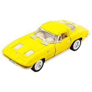 Miniatura-1963-Corvette-Sting-Ray-Escala-1-36-Amarelo