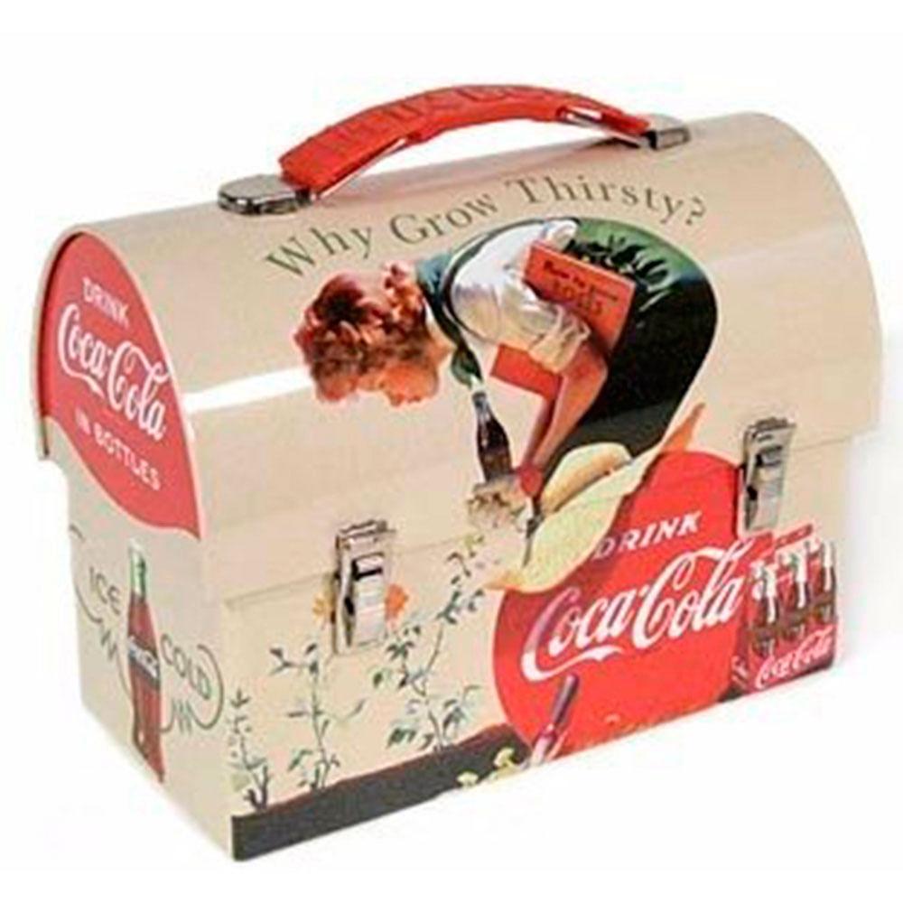 Lancheira-De-Metal-Redonda-Com-Alca-Coca-Cola-Vintage