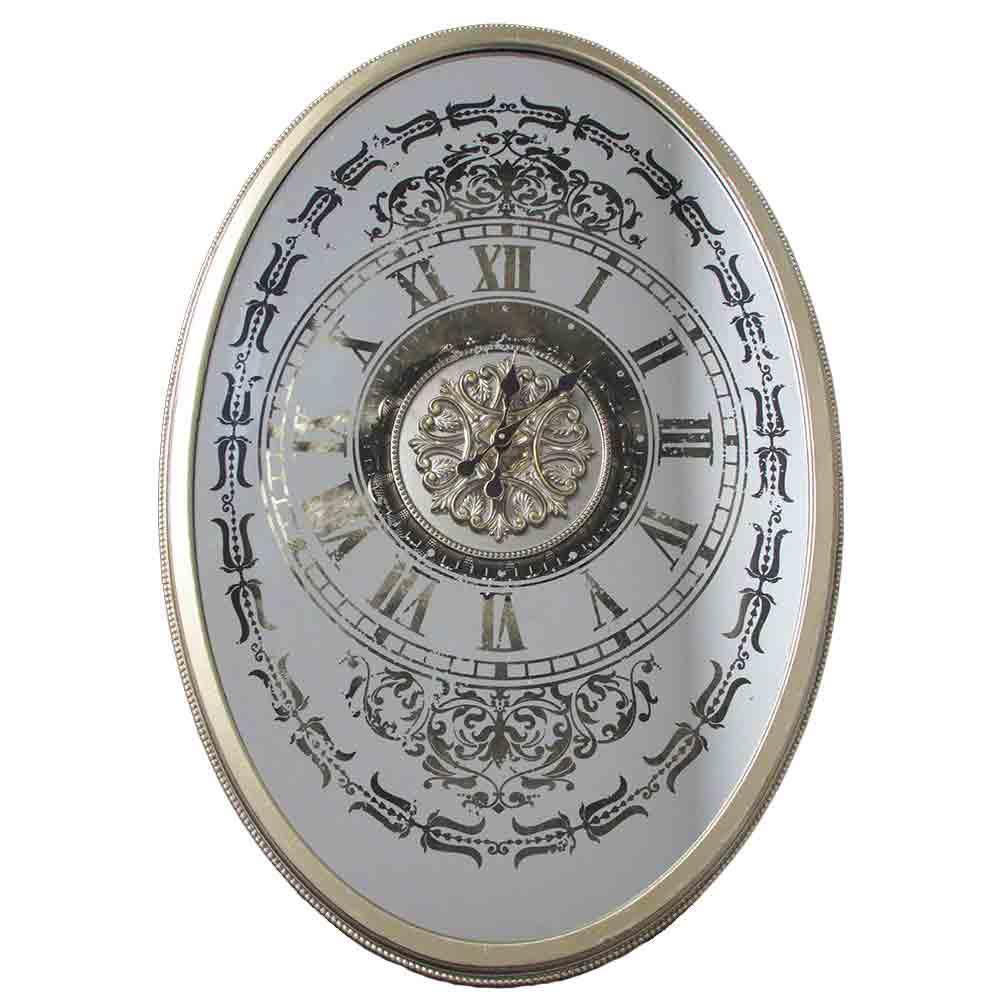 Relogio-de-Parede-Retro-Vintage-Oval-Prateado-Romano