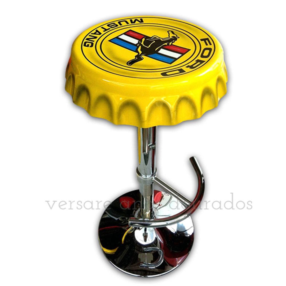 Banqueta-Giratoria-Tampa-De-Garrafa-Ford-Mustang-Amarelo