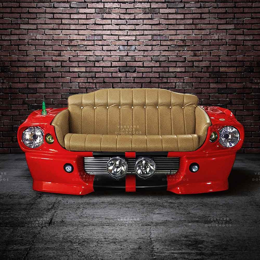 Sofa-Mustang-New-York-World-s-Fair-Vermelho---Estofado-Caramelo
