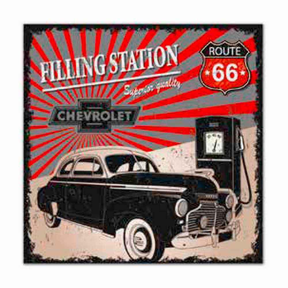 Quadro-Tela-Gas-Station-Chevrolet-Retro-------------------------------------------------------------