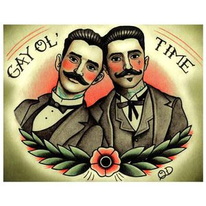Placa-decorativa-para-Barbearias-Quyen-Dihn--Gay-Ol--Time-------------------------------------------