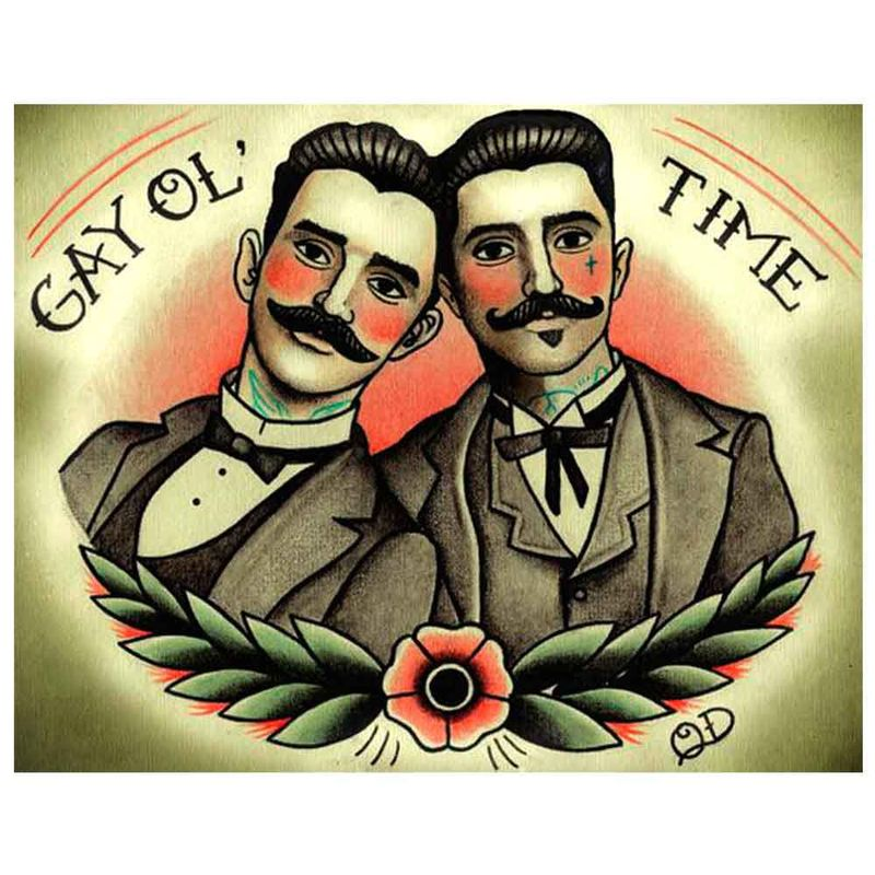 Placa-decorativa-para-Barbearias-Quyen-Dihn--Gay-Ol--Time-------------------------------------------