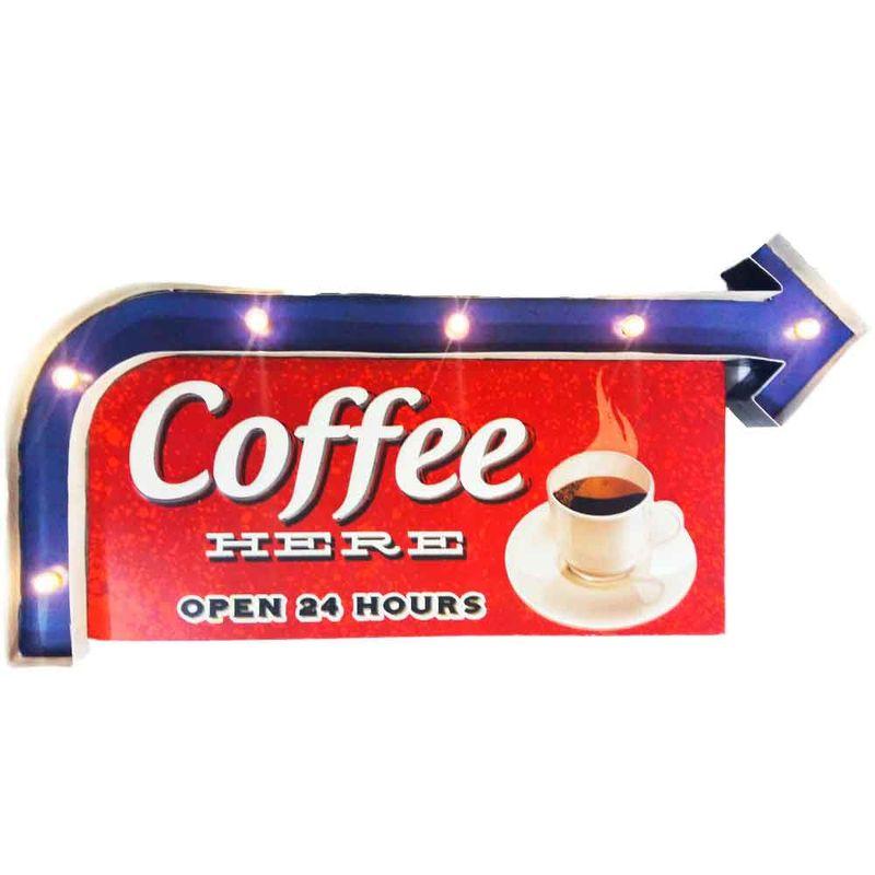 Placa-Led-Retro-Coffee-Here-------------------------------------------------------------------------