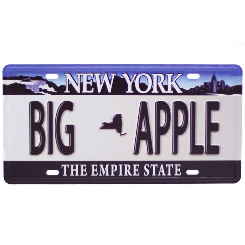 Placa-Carro-Decorativa-De-Metal-New-York-Big-Apple