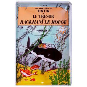 Placa-De-Metal-Da-Serie-Tintin---Le-Tresor-E-Rackham-Le-Rouge