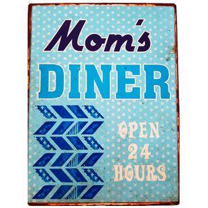 Placa-De-Metal-Vintage-Da-Mom-s-Diner