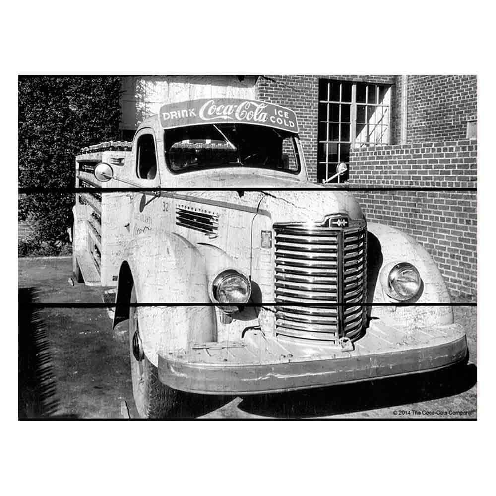 Placa-Madeira-Old-Truck-Coca-Cola-Retro