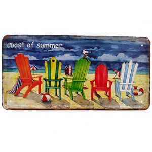 Placa-De-Carro-Decorativa-Em-Alto-Relevo-Coast-Of-Summer