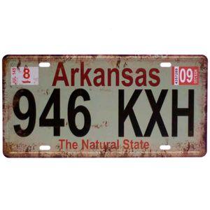 Placa-De-Carro-Decorativa-Em-Alto-Relevo-Arkansas