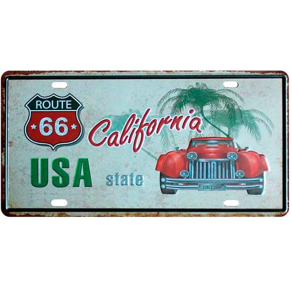 Placa-De-Carro-Decorativa-Em-Alto-Relevo-California-State