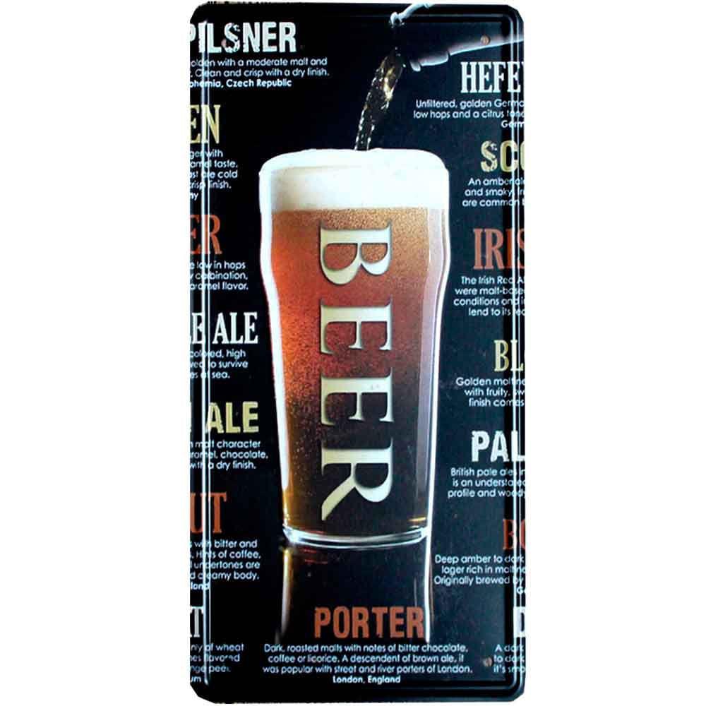 Placa-De-Carro-Decorativa-Em-Alto-Relevo-Beer-Porter
