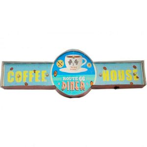 Placa-Luminosa-A-Pilha-Retro-Route-66-Diner-Coffee-House