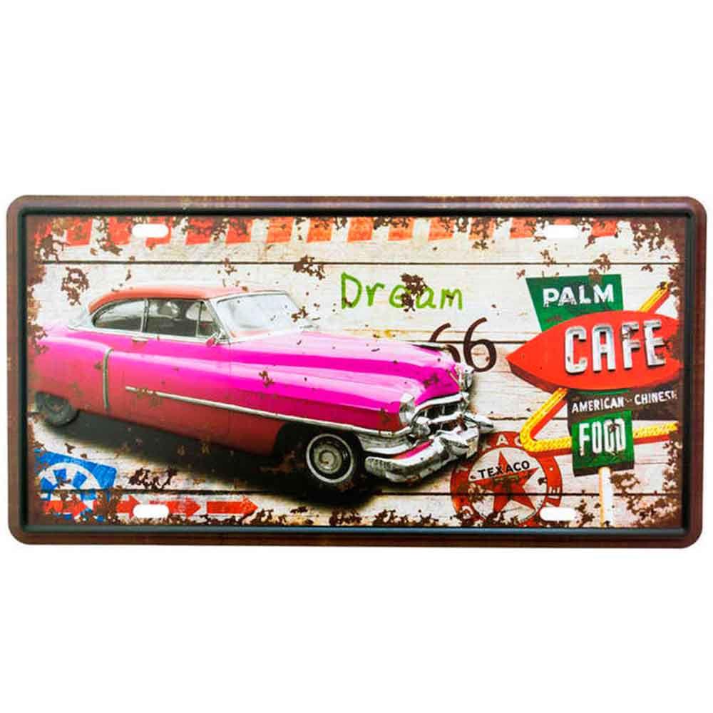 Placa-De-Metal-Decorativa-Palm-Food-Cafe
