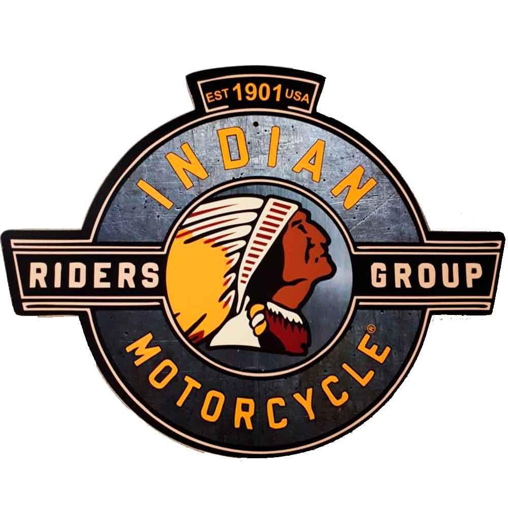 Placa-Decorativa-Mdf-Indian-Motorcycle-Est-1901-Usa-Recorte