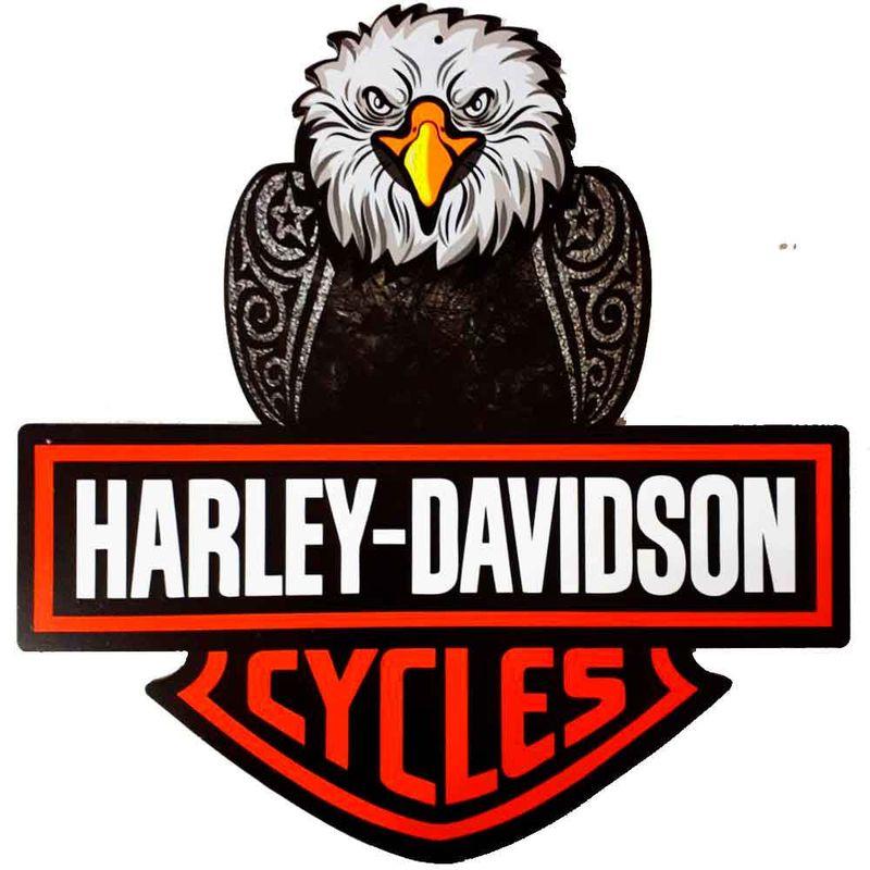 Placa-Decorativa-Mdf-Harley-Davidson-Aguia-Recorte