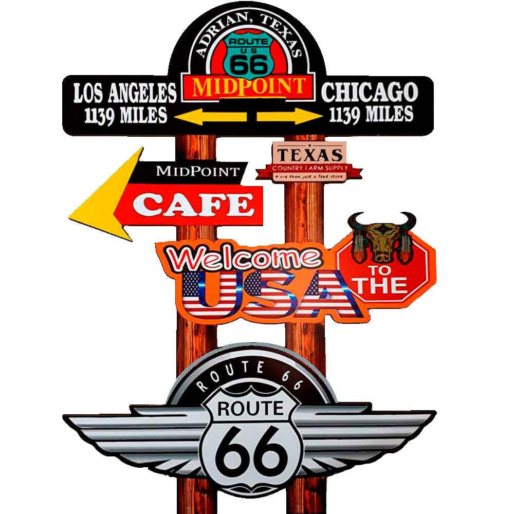 Placa-Decorativa-Pequena-Mdf-Midpoint-Route-66-Recorte