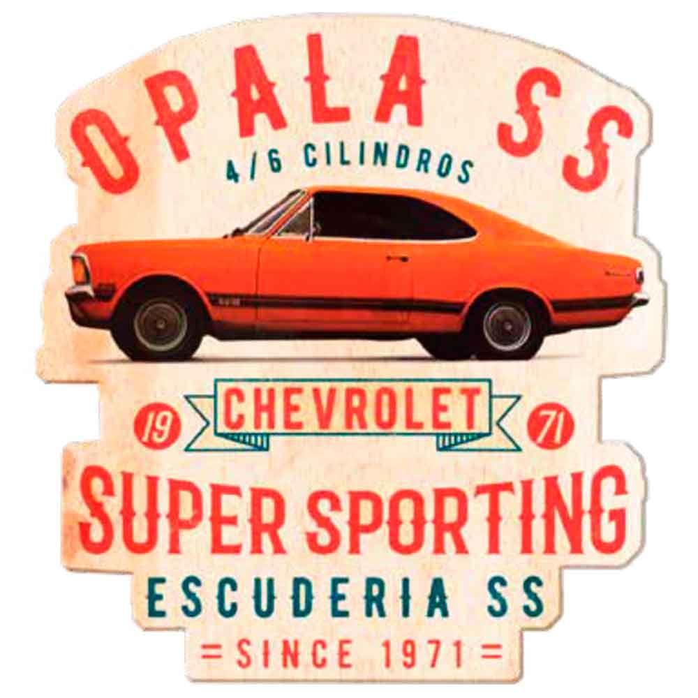 Placa-De-Madeira-Recorte-Gm-Opala-Ss-1971-Laranja