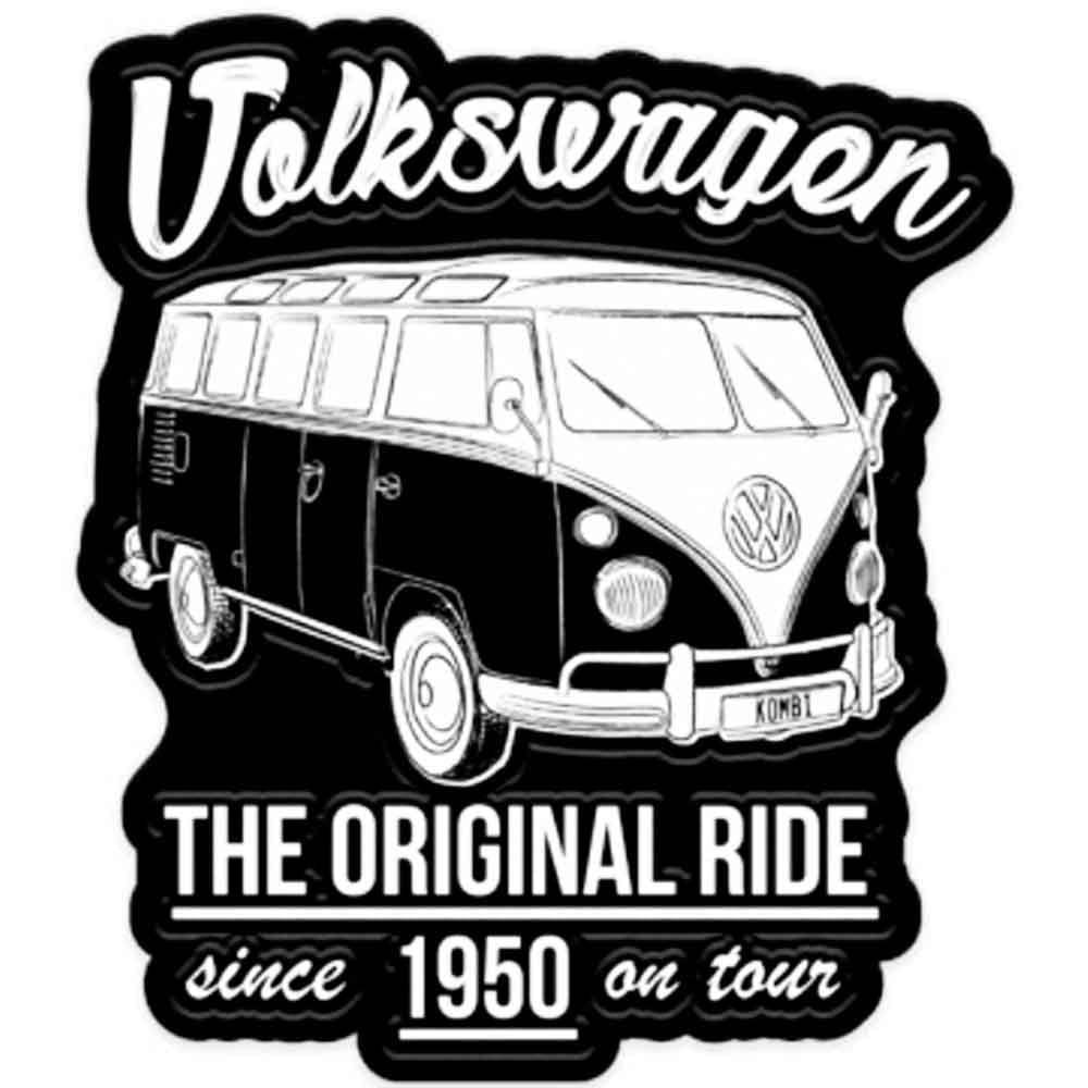 Placa-Metal-Recorte-Volkswagen-Kombi-Original-Preta