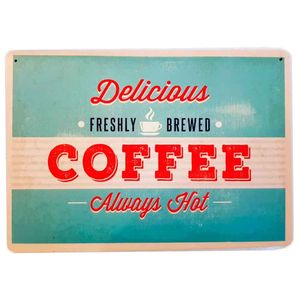Placa-Decorativa-Mdf-Delicious-Coffee-Azul---Unica