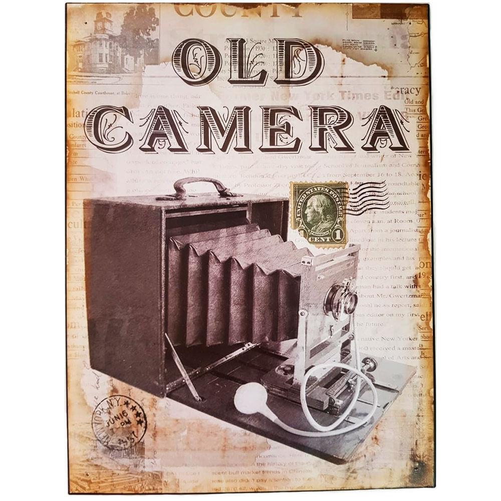 Placa-De-Metal-Vintage-Old-Camera