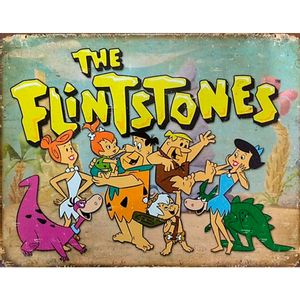 Placa-De-Metal-The-Flintstone
