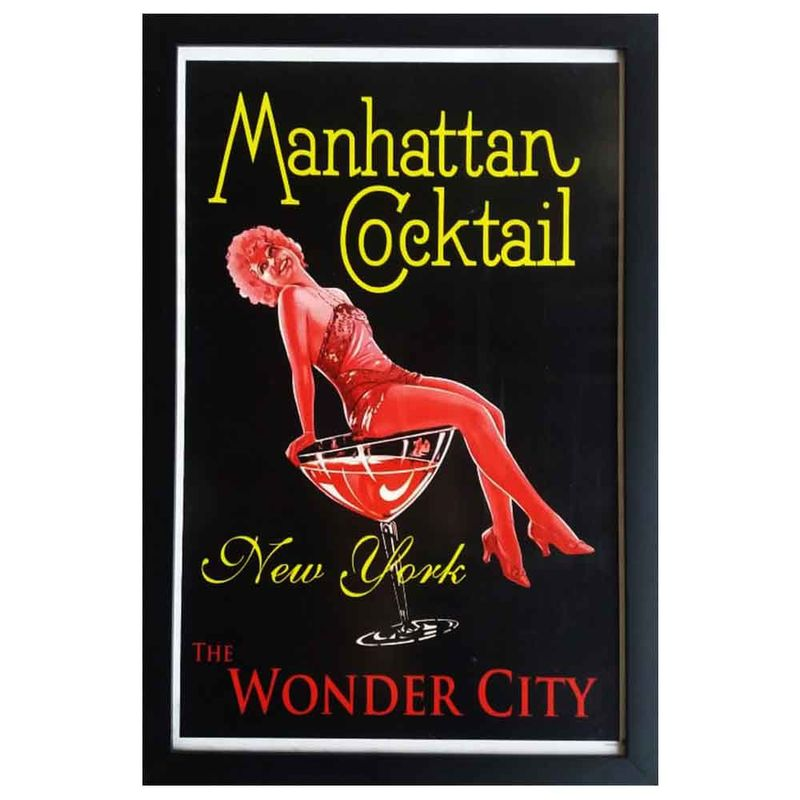 quadro-vidro-manhattan-cocktail